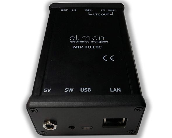 Elman - NTPLTC - LTC timecode generator from NTP